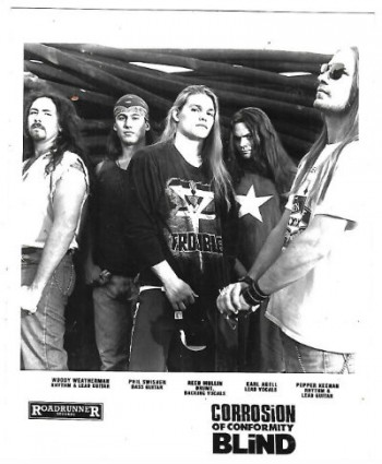 Image for 1992 Press Photo Corrosion of Conformity - Band Members