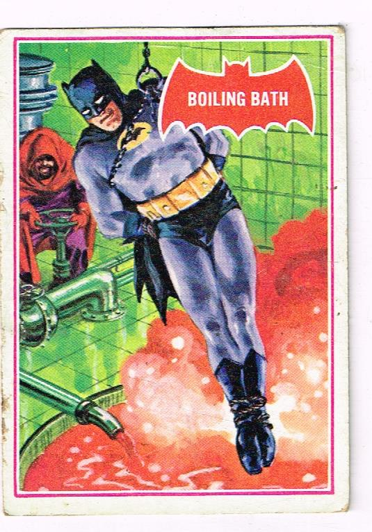 Image for SCANLENS 1966 BATMAN RED SHIELD TRADING CARD 12A BOILING BATH