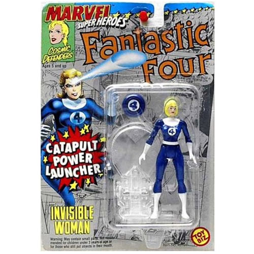 "Image for INVISIBLE WOMAN Catapult Power Fantastic Four Marvel Superheroes 5"" Action Figure"