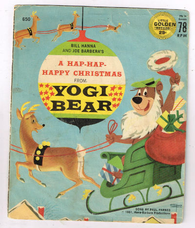 "Image for Frank Milano ‎– Have A Hap-Hap-Happy Christmas From Yogi Bear  Label:  Golden Records (2) ‎– 650, Golden Records (2) ‎– FF650  Format:  Vinyl, 7"", 45 RPM  Country:  US  Released:  1961  Genre:  Children's"