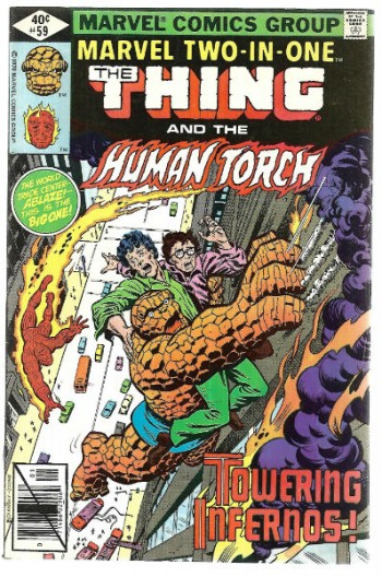 Image for Marvel Two-in-One #59;The Thing and Human Torch