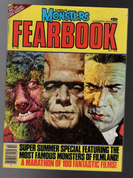 Image for Famous Monsters Yearbook Magazine #188 Oct. 1982 Cheney Jr Karloff Lugosi Cover