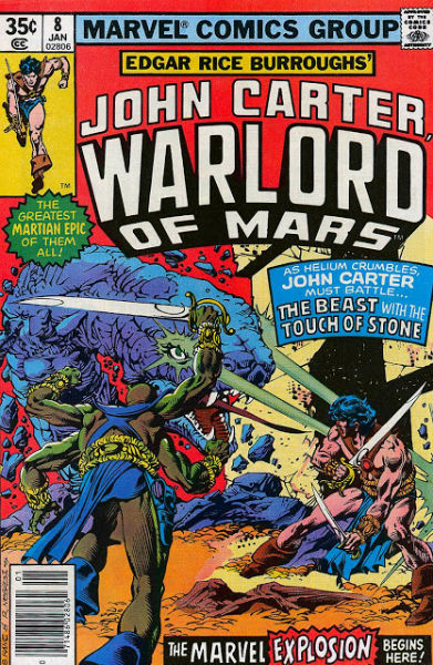 Image for John Carter, Warlord of Mars  Vol. 1 #8 (1977-1979) Marvel Comics