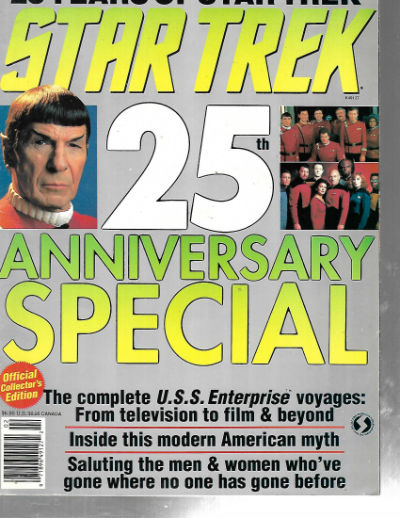 Image for Star Trek 25th Anniversary Special Collector's Edition Magazine book 1991