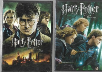 Image for Harry Potter and the Deathly Hallows, Parts 1 and 2 both on DVD