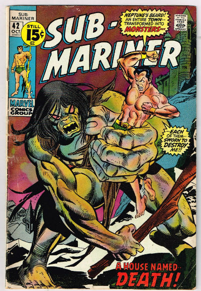 "Image for Sub-mariner #42,oct.,1971  ""A house named Death"""