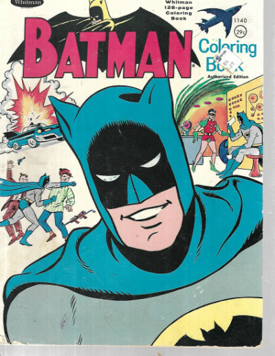 Image for Vintage 1966 Batman Meets Blockbuster Coloring Book Whitman #1032 1966 Series 1