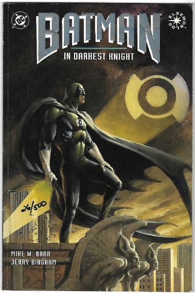 Image for Batman: in Darkest Knight Paperback – 1994  by Mike W. Barr  (Author), Jerry Bingham (Illustrator)