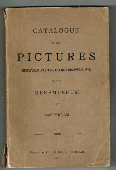 Image for Catalogue in pictures in the Rjiksmuseum 1927