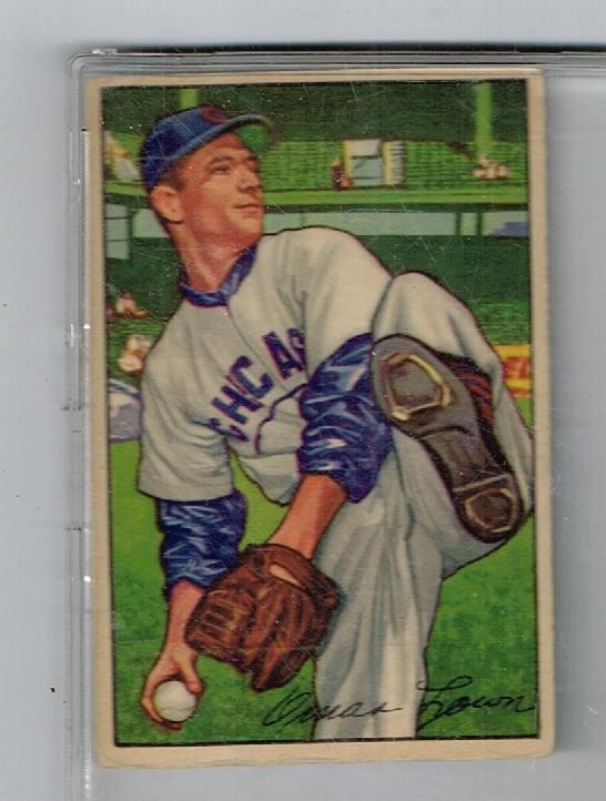 Image for 1952 BOWMAN OMAR LOWN CARD NO:16 NEAR MINT