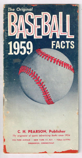 Image for The original baseball facts:1959  vintage pamphlet