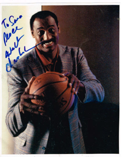 "Image for wilt chamberlain signed 8""x10"" colored photo."