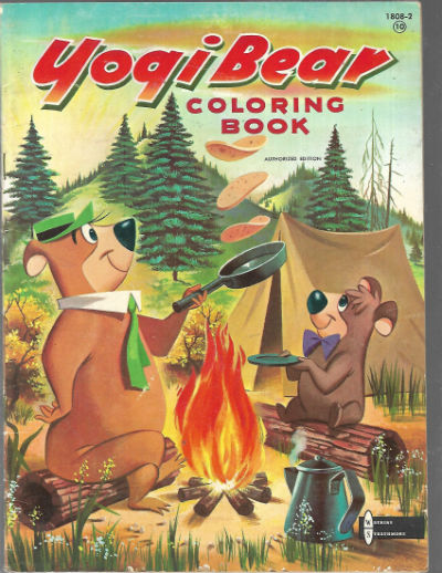 Image for Yogi Bear coloring book-1959