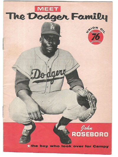 Image for John Roseboro 1960 Meet The Dodger Family Union Oil 76 Booklet Dodgers