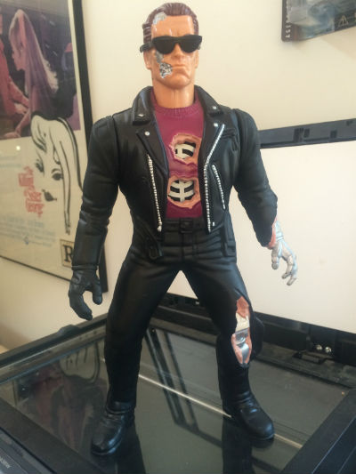 "Image for RARE TERMINATOR 2 ARNOLD SCHWARZENEGGER GRANDE 12"" Talking ACTION FIGURE 1992(no longer talks)"