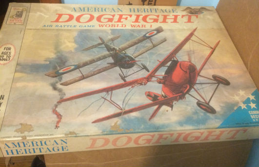 Image for Collectible-Vintage-WW-1-Dog-Fight-Board-Game-1963-Milton-Bradley-Airplane
