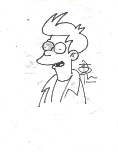 Image for Original drawing of Fry by Matt Groening