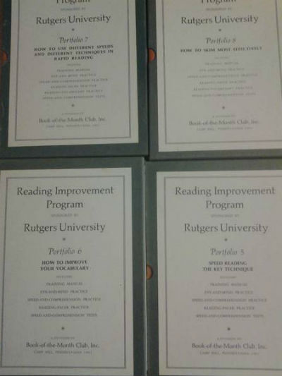 Image for Reading Improvement Program Complete Set (13 slipcases with portfolios-1961)