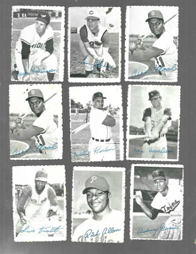 Image for 1969 Topps Deckle Edge Baseball Cards set of 9 of 33