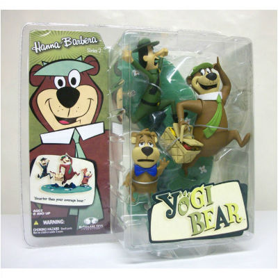 Image for Yogi,Boo-boo nd ranger smith action figures MOC