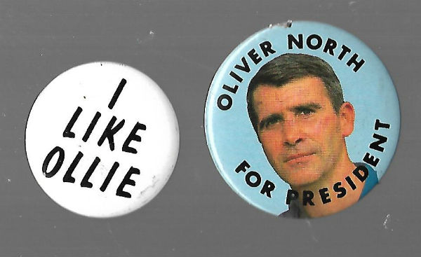 Image for Oliver (Ollie)North Pin-backs(2)