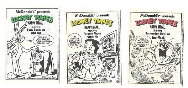 "Image for Mcdonald's presents Looney Tunes,""super bugs"",""Wonder Pig"" and""Taz flash"""