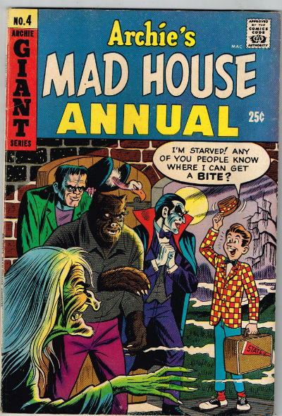 Image for ARCHIE'S MADHOUSE ANNUAL #4    1967-68 | VOLUME 1 | ARCHIE MLJ