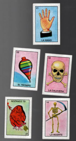 Image for 5 trading cards of LA MUERTE