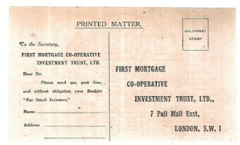 Image for Vintage mail in insurance postcard