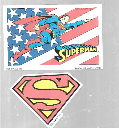 Image for 3  Windowpop stickers from Japan (2 Superman)