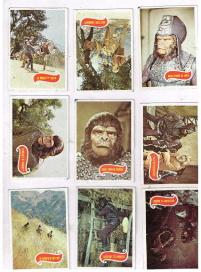 Image for Planet of the apes trading cards  (Lot of 9)  #5,#8,#11,#19,#30,#44,#52,#56,#59