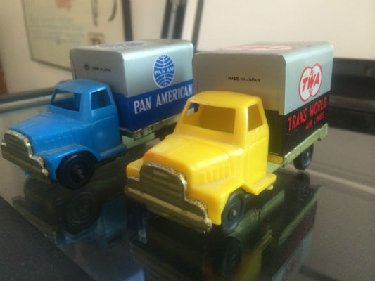 Image for 2 vintage (1960's) friction Trucks;Pan Am and TWA