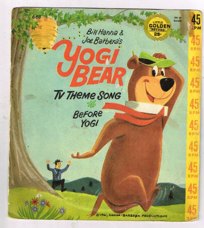Image for Golden Chorus and Orchestra* ‎– Yogi Bear TV Theme Song-45 rpm blk vinyl