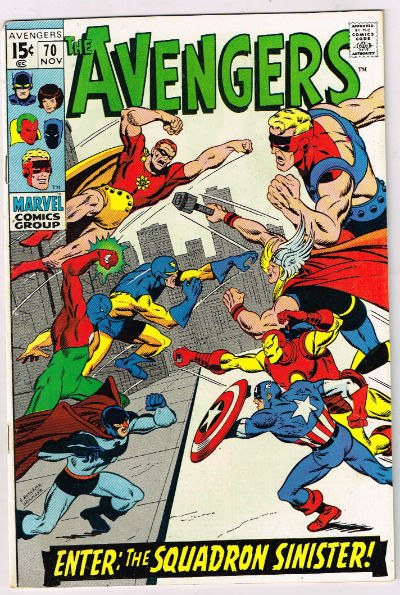 Image for the Avengers #70,Nov.,1969