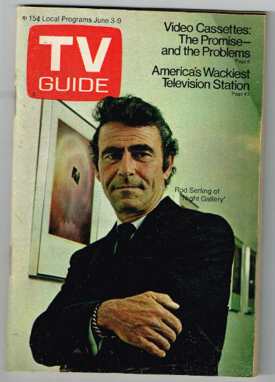 Image for TV guide,June 3-9 1972   Rod Serling cover