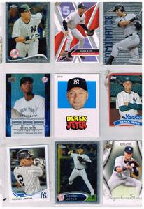 Image for Set of 9 different Derek Jeter cards in sleeve