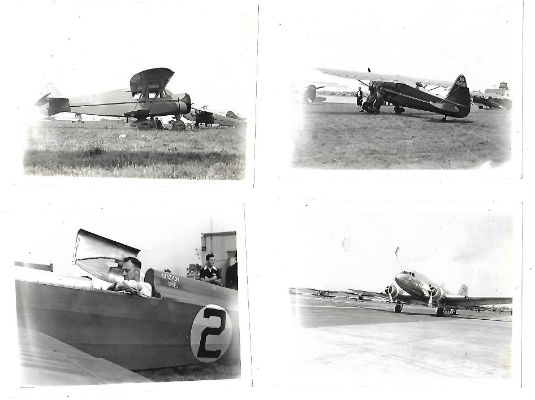Image for 4 small photos of vintage airplanes