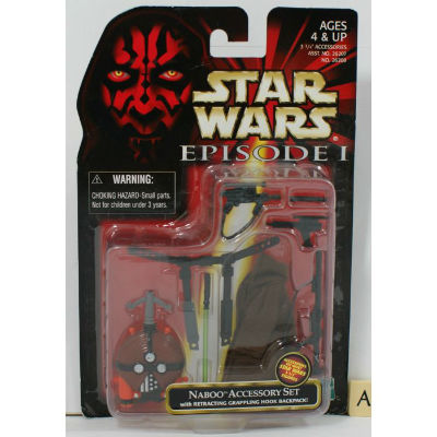 Image for Star Wars Episode 1 Naboo Accessory Set (A) - MOSC Hasbro