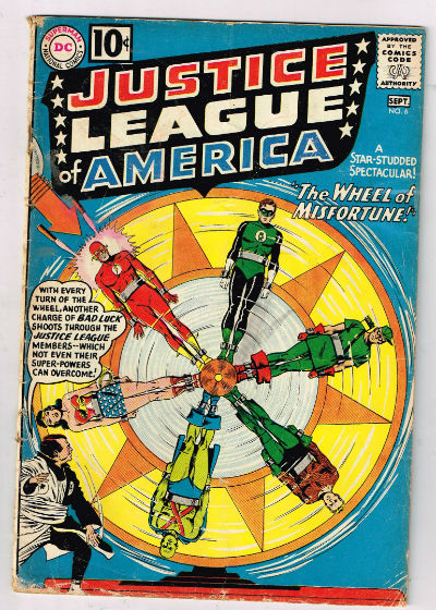 Image for JUSTICE LEAGUE OF AMERICA #6    1961,aug-sept. | VOLUME 1 | DC