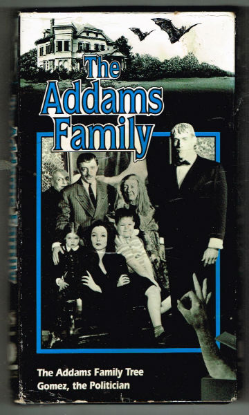 Image for The ADDAMS family on VHS:  1.the addams family tree  2.Gomez,the politician