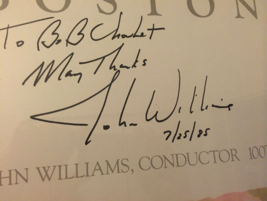 Image for John Williams w/the Boston Pops 1985-signed poster by Mr.Williams himself