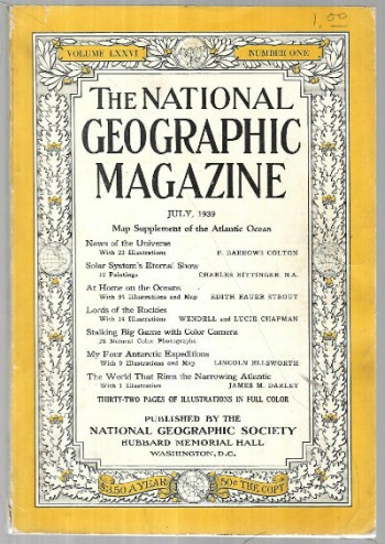 Image for National Geographic July,1939