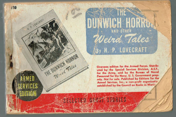 Image for the Dunwich horrors by H.p.Lovecraft,armed services edition.
