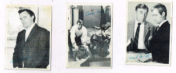 Image for 3 man from U.N.C.L.E. trading cards,2 signed by robert vaughn,the other signed by Waverley