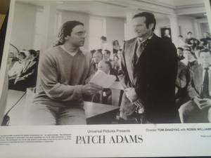 "Image for Patch Adams 8""x10"" B&W still press photo"