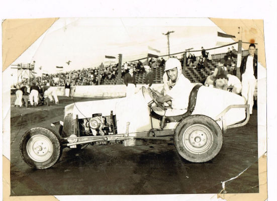 Image for Indy-racer:Black nd White photo 5x7(vintage)