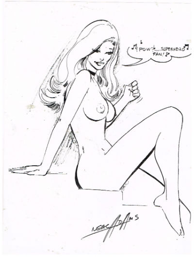 Image for Sketch of nude by Neal Adams(copy)