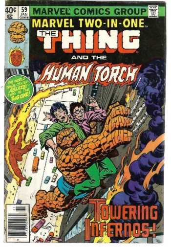 "Image for Marvel Two-in-One #59: The Thing and the Human Torch.""Towering Infernos!!"""