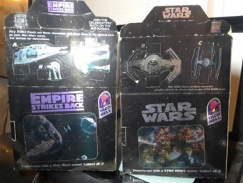 Image for Star Wars:2 (empty) Star Wars Taco Bell Kids Meal Boxes
