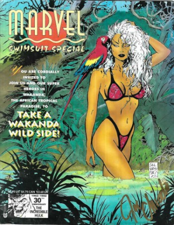 Image for Marvel swimsuit Special 1992-signed by Joe Chiodo